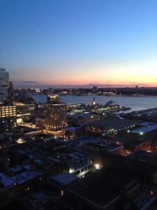 Hudson at sunset