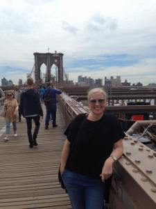 Me on Brooklyn bridge 2