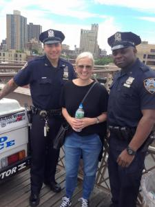 Me with Brooklyn bridge police