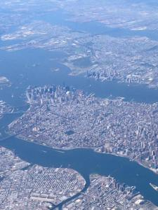 View of Manhatten from plane